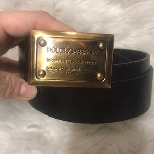 Dolce and Gabbana Black leather belt